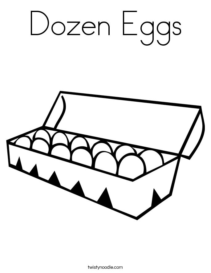 Dozen Eggs Coloring Page
