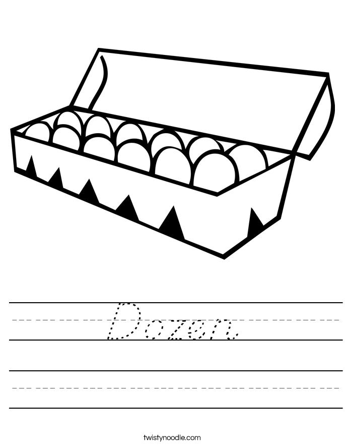 Dozen Worksheet