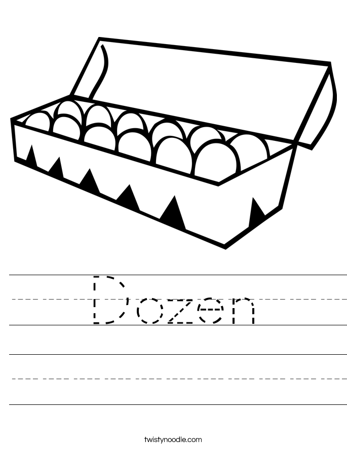 Dozen Worksheet - Twisty Noodle