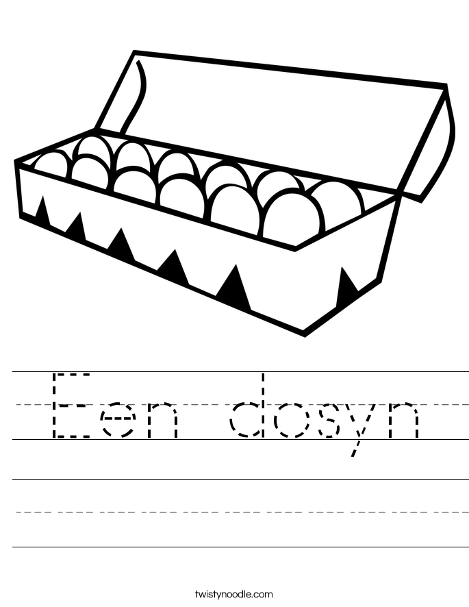 Een dosyn Worksheet