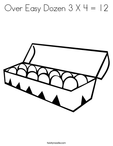 Dozen Eggs Coloring Page