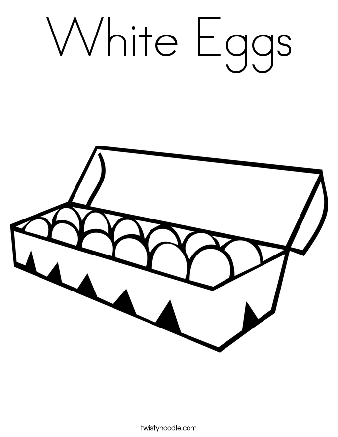 White Eggs Coloring Page