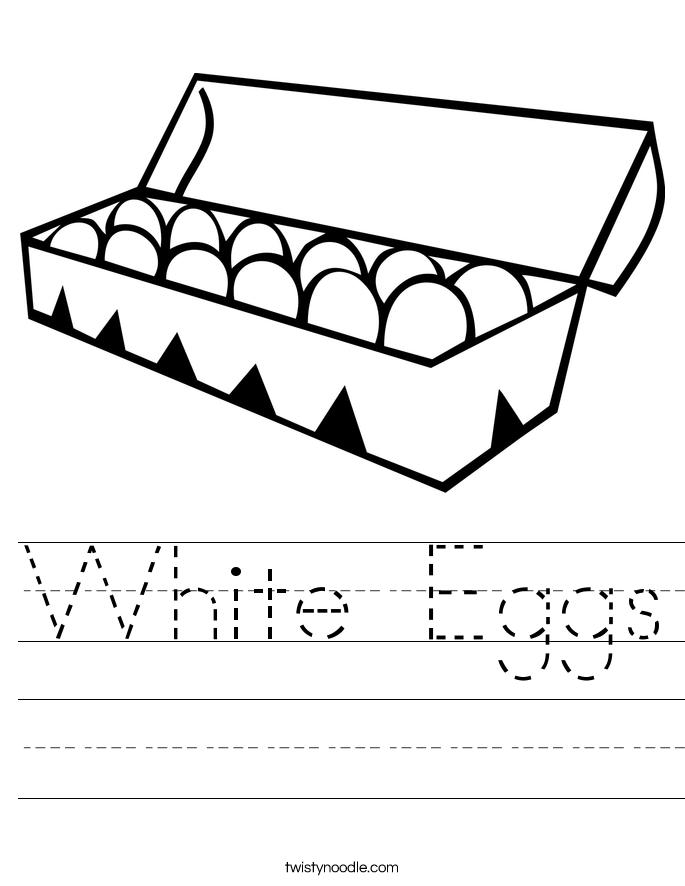 White Eggs Worksheet