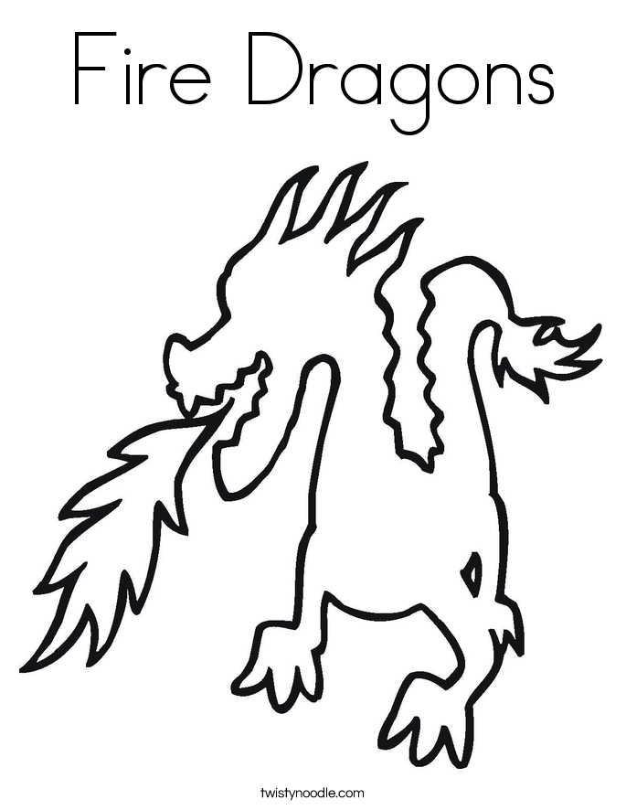 Fire Dragons Coloring Page