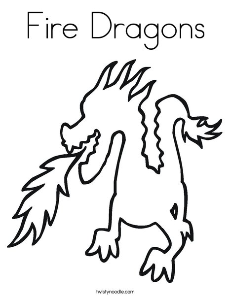 Fire Breathing Dragon Colouring Pages Dragon Breathing Fire Coloring