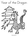 Year of the DragonColoring Page