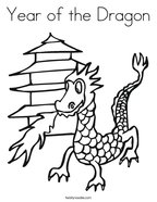 Year of the Dragon Coloring Page