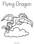 Flying DragonColoring Page