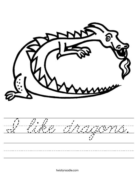 D is for Dragon Worksheet
