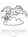 Positive Action Dragons! Worksheet