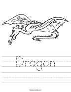 Dragon Handwriting Sheet