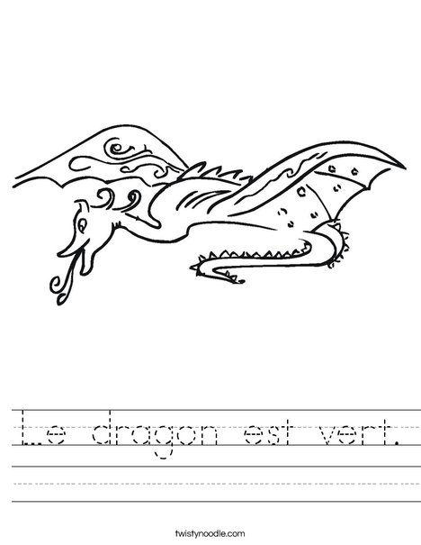 Dragon Worksheet
