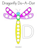 Dragonfly Do-A-Dot Coloring Page