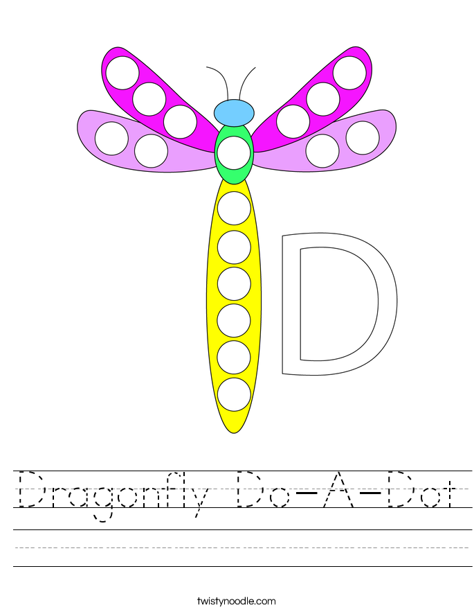Dragonfly Do-A-Dot Worksheet