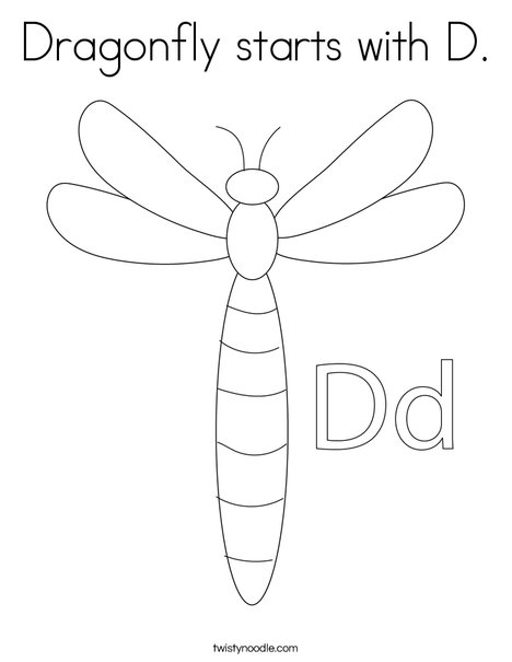 Dragonfly Coloring Page - Ultra Coloring Pages | 605x468