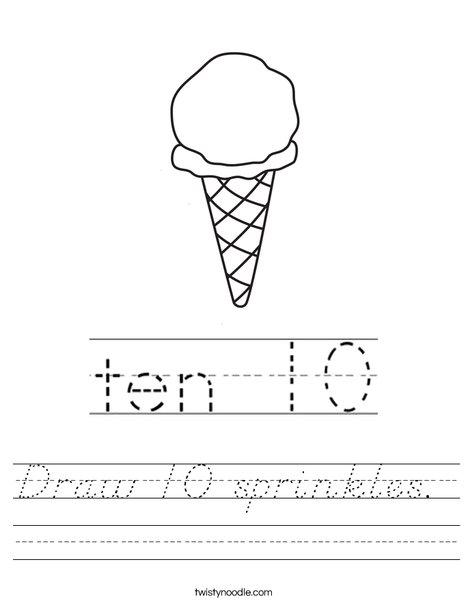 Draw 10 sprinkles.  Worksheet