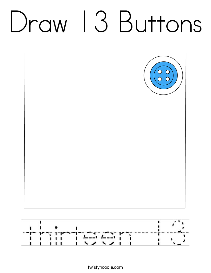 Draw 13 Buttons Coloring Page