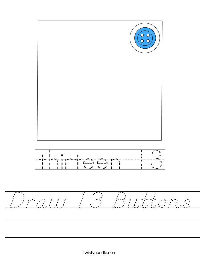 Draw 13 Buttons Worksheet