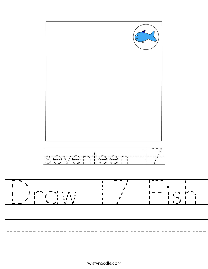 Draw 17 Fish Worksheet