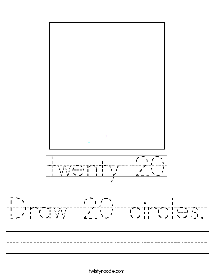 Draw 20 circles. Worksheet