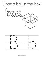 Draw a ball in the box Coloring Page