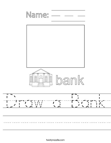 Draw a Bank Worksheet