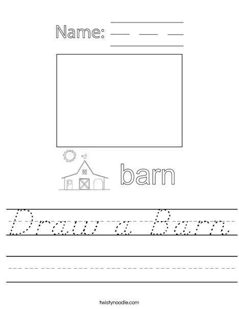 Draw a Barn Worksheet