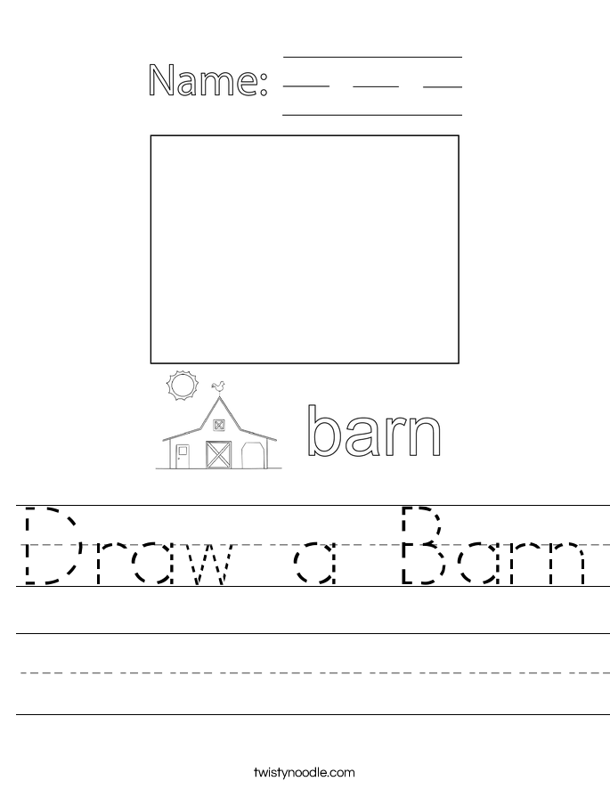 Draw a Barn Worksheet