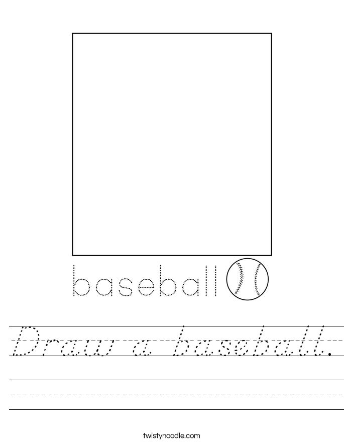 Draw a baseball. Worksheet