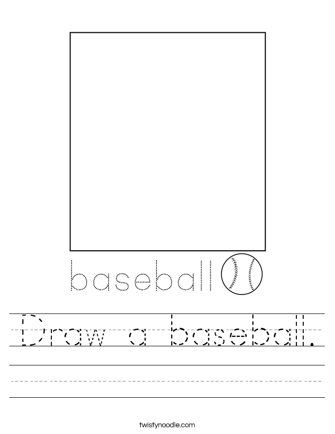 Draw a baseball. Worksheet