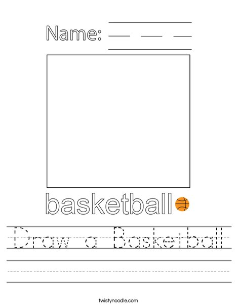 Draw a Basketball Worksheet
