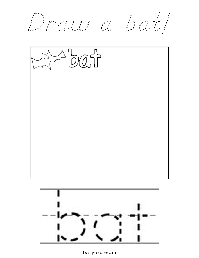 Draw a bat! Coloring Page