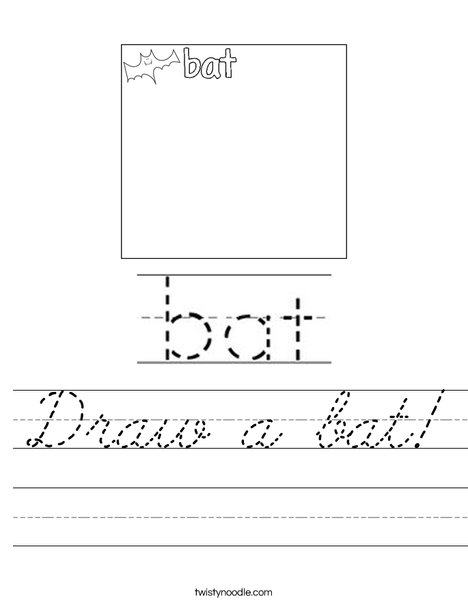 Draw a bat! Worksheet