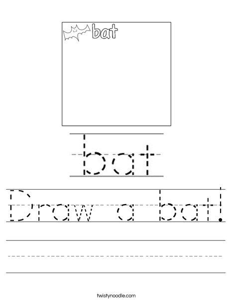 Draw a bat! Worksheet