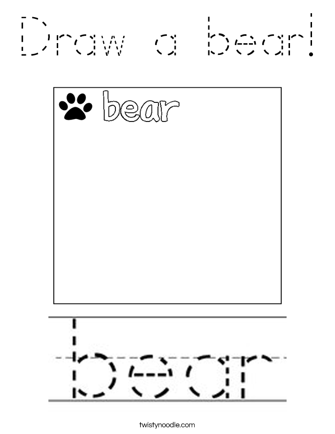 Draw a bear! Coloring Page