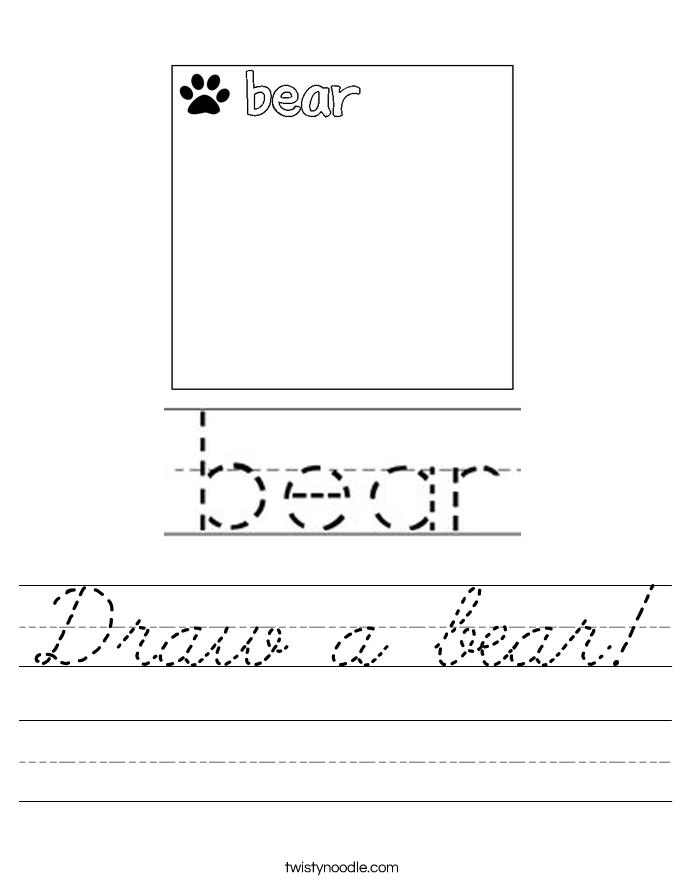 Draw a bear! Worksheet