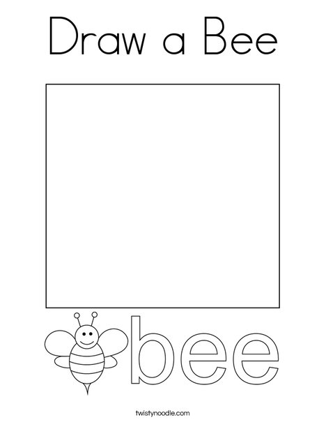 Draw a Bee Coloring Page