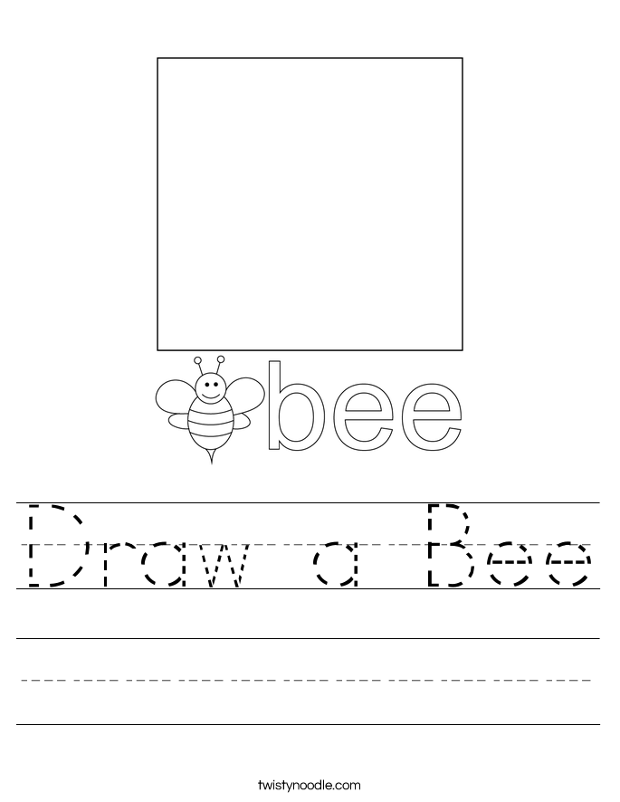 Draw a Bee Worksheet