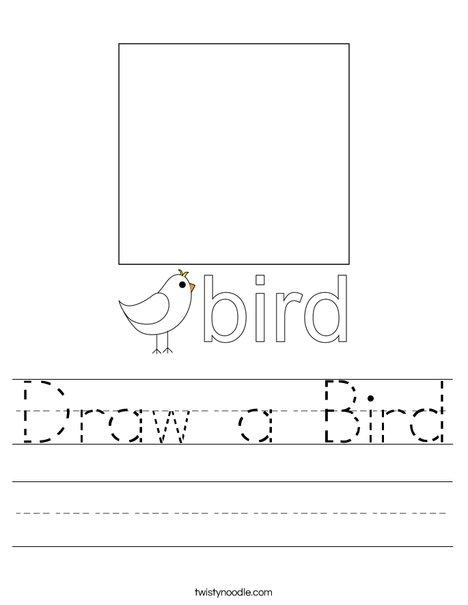 Draw a Bird. Worksheet