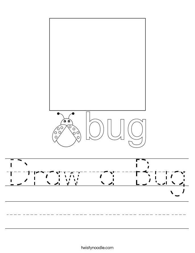 Draw a Bug Worksheet
