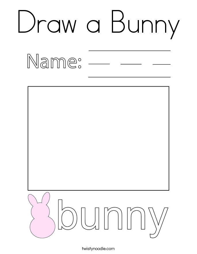 Draw a Bunny Coloring Page