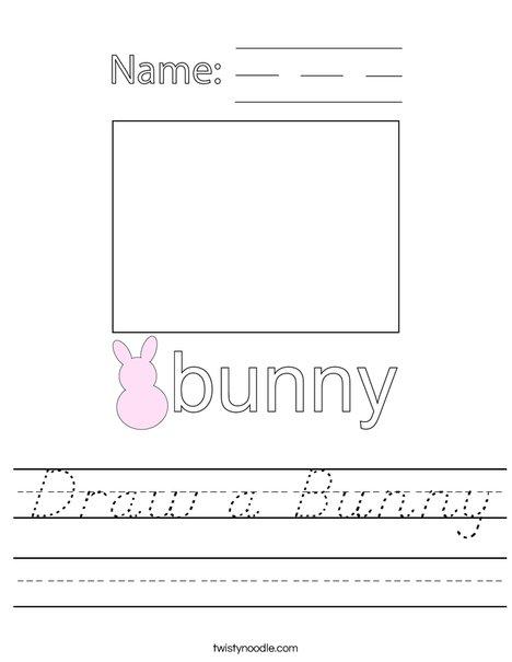Draw a Bunny Worksheet