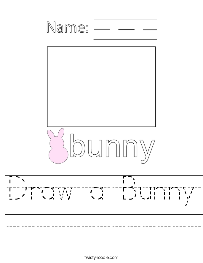 Draw a Bunny Worksheet