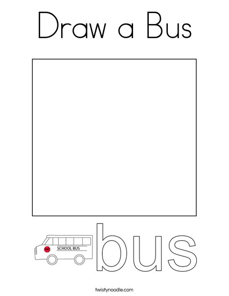 Draw a Bus Coloring Page