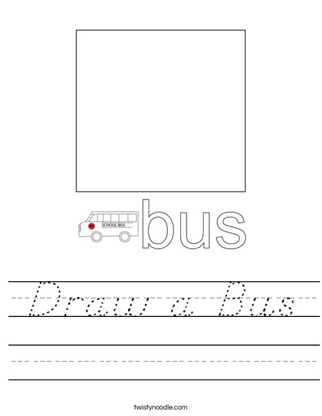 Draw a Bus Worksheet