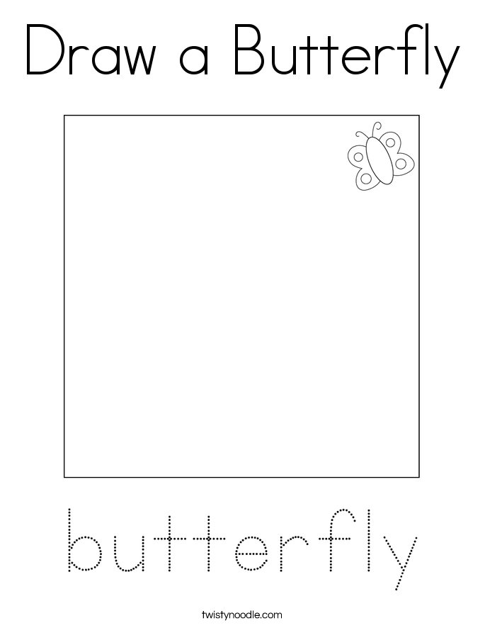 Draw a Butterfly Coloring Page