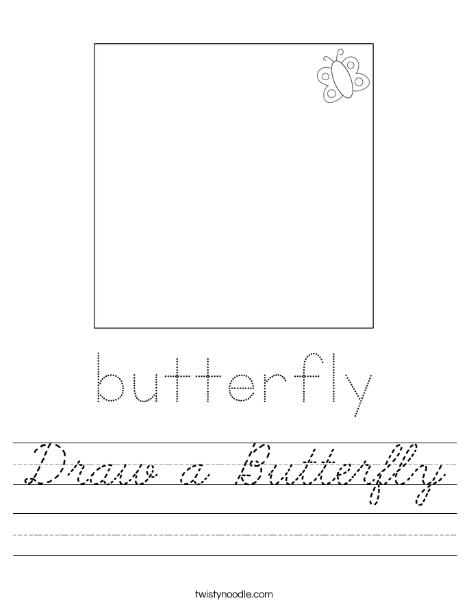 Draw a Butterfly Worksheet