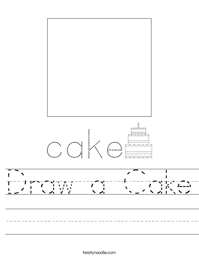 Draw a Cake Worksheet