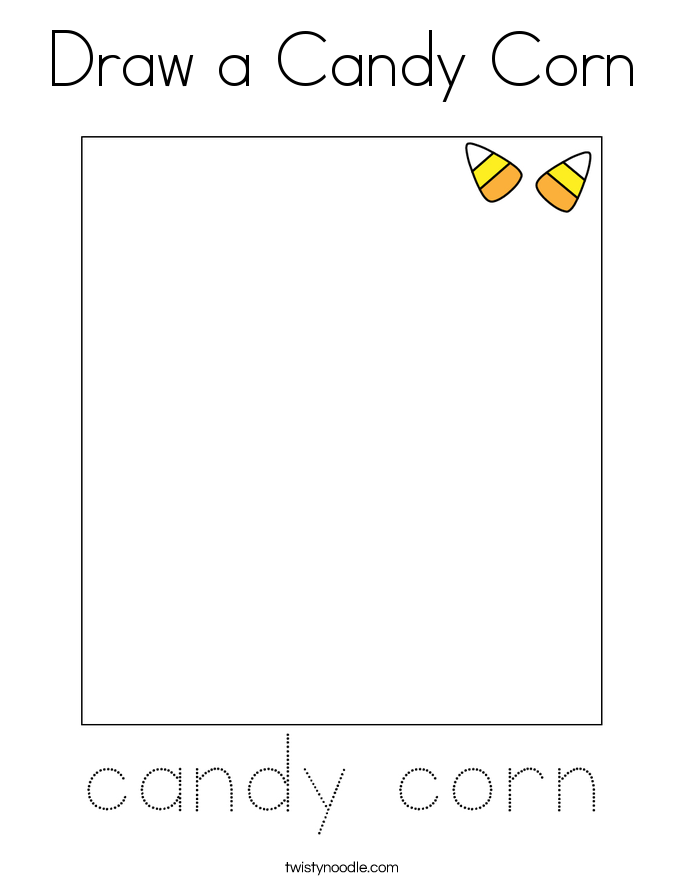 Draw a Candy Corn Coloring Page