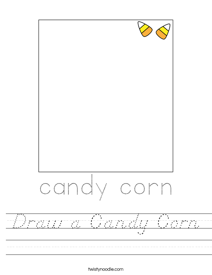 Draw a Candy Corn Worksheet
